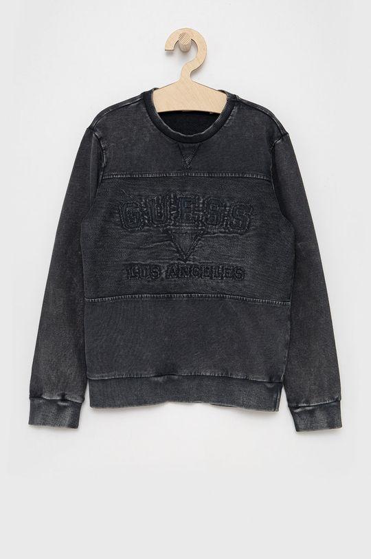 szary Guess - Bluza bawełniana dziecięca Chłopięcy