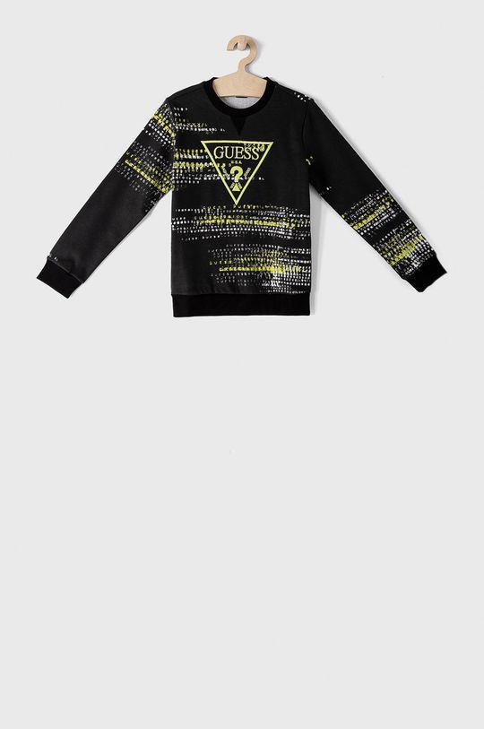 czarny Guess - Bluza bawełniana dziecięca 116-176 cm Chłopięcy