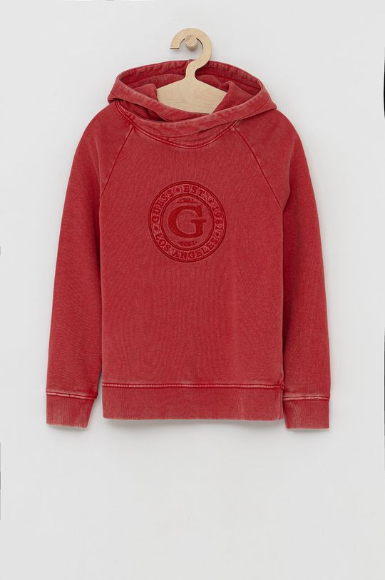 červená Guess - Dětská bavlněná mikina Chlapecký