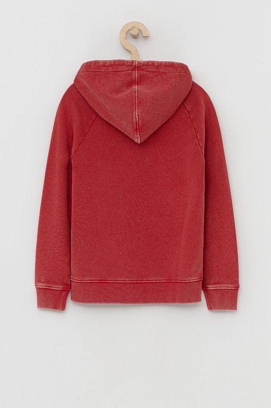 Guess - Dětská bavlněná mikina červená