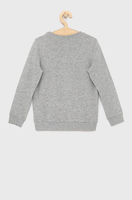 Guess - Dětská bavlněná mikina světle šedá