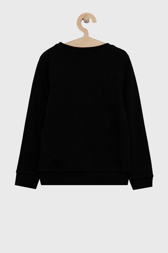 Guess - Dětská bavlněná mikina černá
