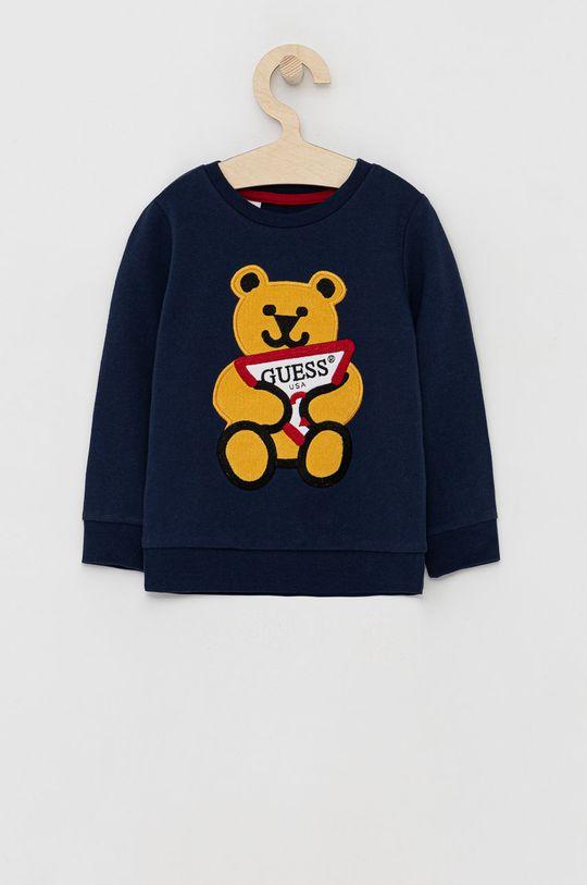 niebieski Guess - Bluza bawełniana dziecięca Chłopięcy