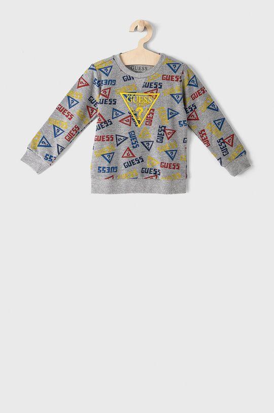 szary Guess - Bluza bawełniana dziecięca 92-122 cm Chłopięcy
