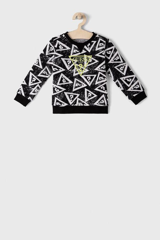 czarny Guess - Bluza bawełniana dziecięca 92-122 cm Chłopięcy