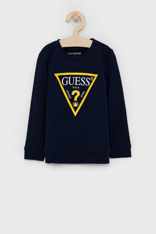 granatowy Guess - Bluza dziecięca Chłopięcy