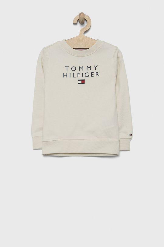 kremowy Tommy Hilfiger - Bluza bawełniana dziecięca Chłopięcy