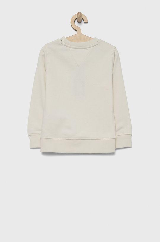 Tommy Hilfiger - Bluza bawełniana dziecięca kremowy