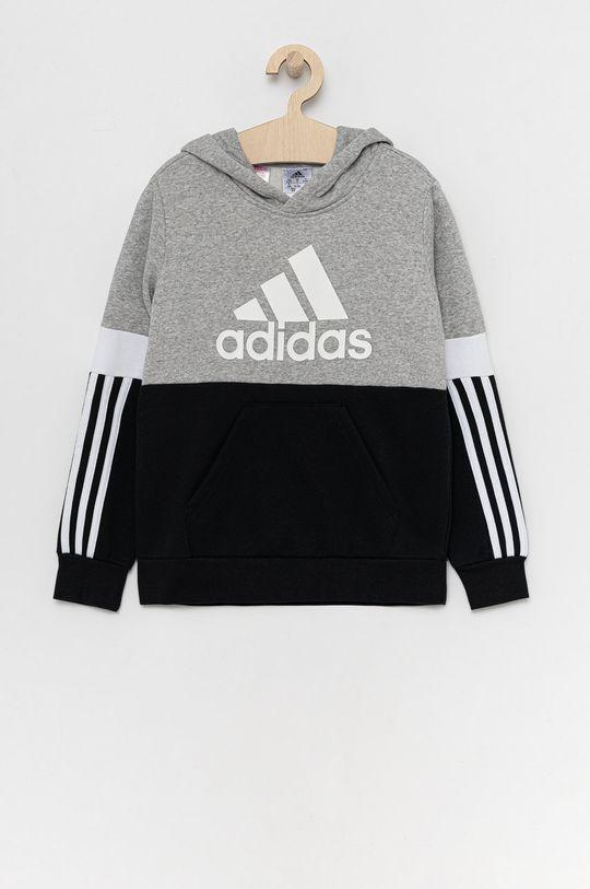 czarny adidas - Bluza dziecięca Chłopięcy