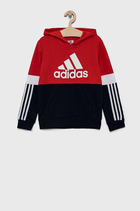 czerwony adidas - Bluza dziecięca Chłopięcy
