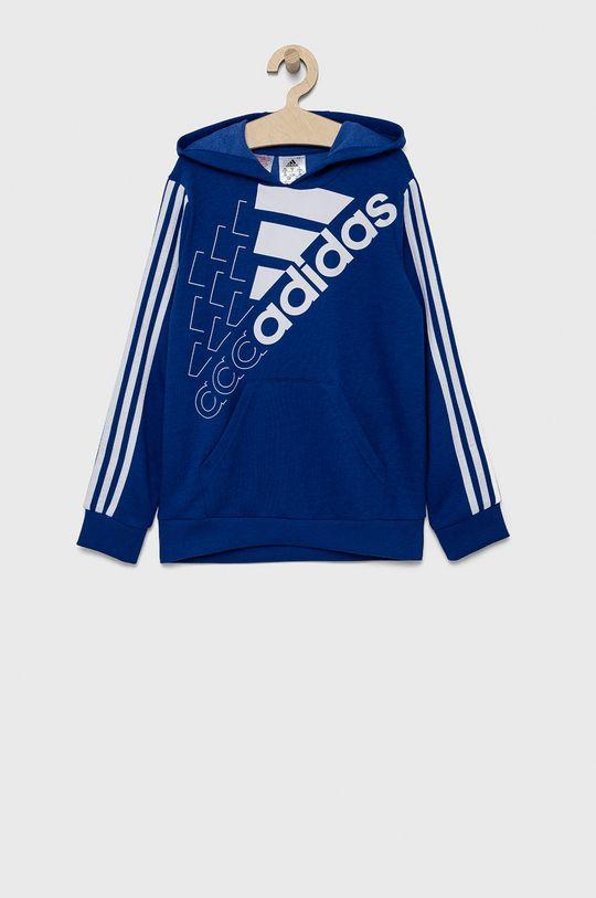 niebieski adidas - Bluza dziecięca Chłopięcy