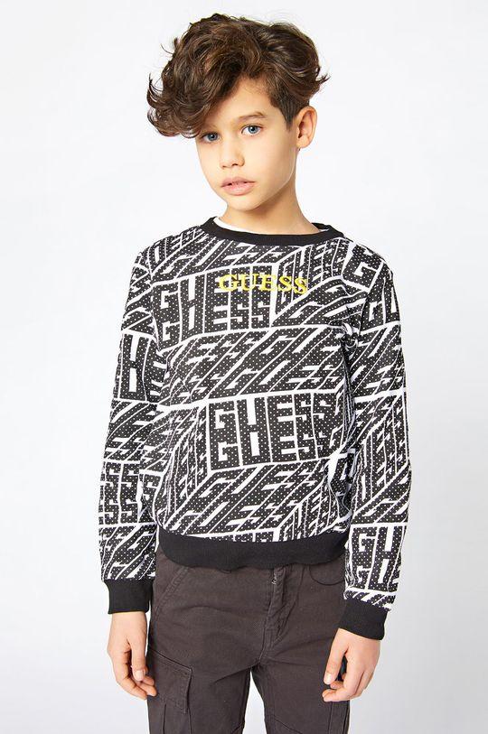 negru Guess - Hanorac de bumbac pentru copii De băieți