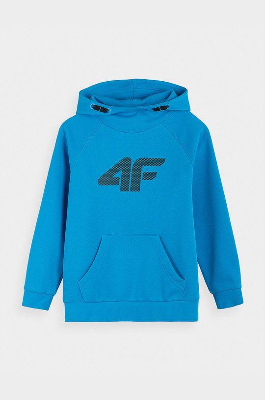 niebieski 4F - Bluza dziecięca Chłopięcy