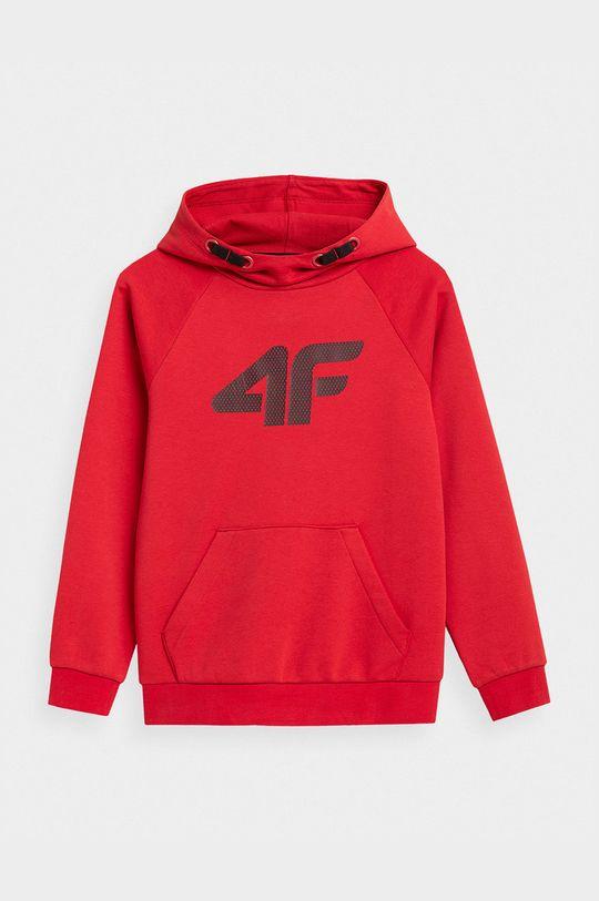 czerwony 4F - Bluza dziecięca Chłopięcy