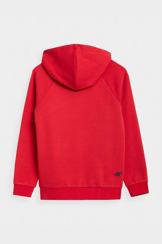 4F - Bluza dziecięca czerwony