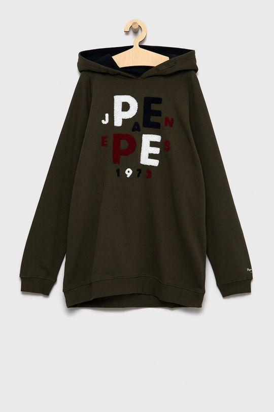 verde maro Pepe Jeans - Hanorac de bumbac pentru copii Jason De băieți