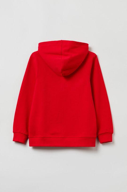 OVS - Bluza bawełniana dziecięca czerwony