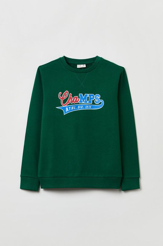 ciemny zielony OVS - Bluza bawełniana dziecięca Chłopięcy