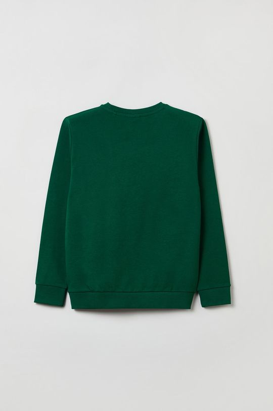 OVS - Bluza bawełniana dziecięca ciemny zielony
