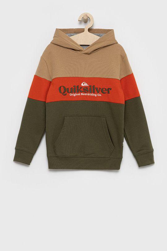 jasny oliwkowy Quiksilver - Bluza dziecięca Chłopięcy