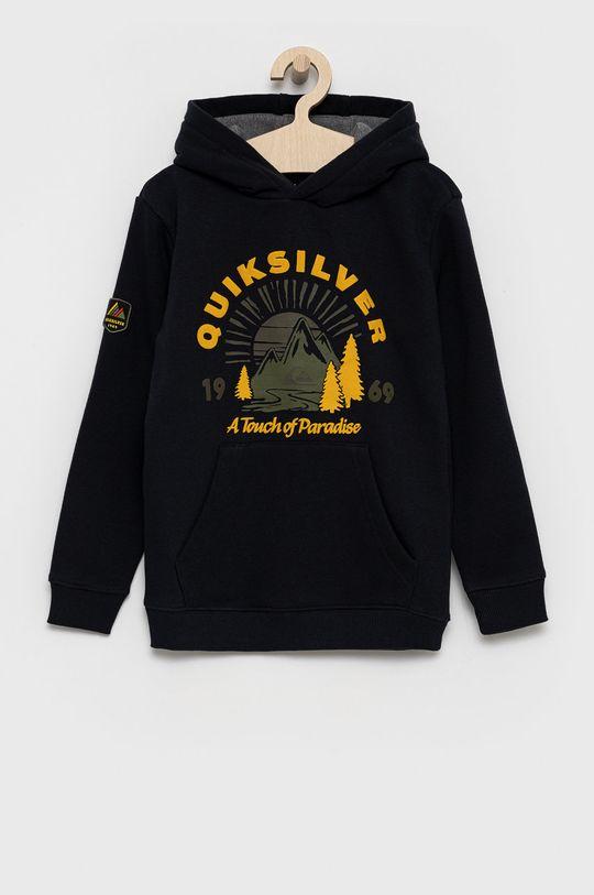 czarny Quiksilver - Bluza dziecięca Chłopięcy