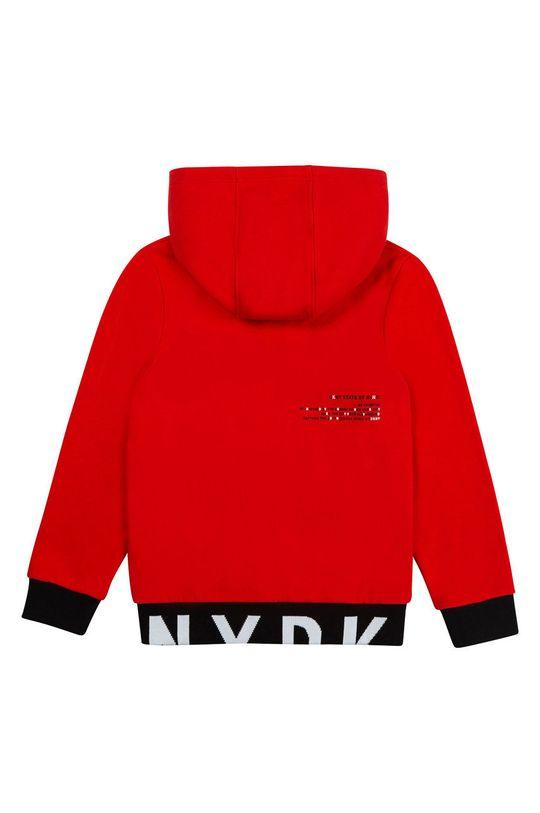 Dkny - Hanorac de bumbac pentru copii rosu