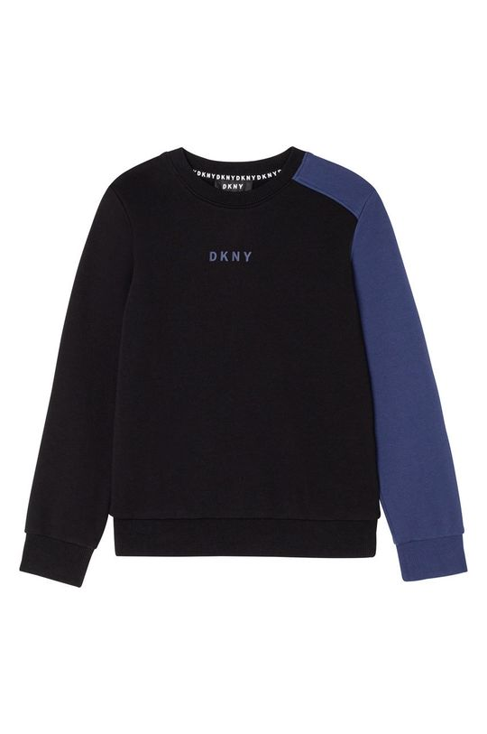 negru Dkny - Hanorac de bumbac pentru copii De băieți
