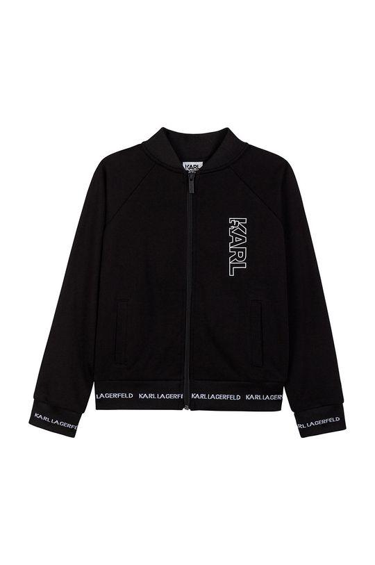 negru Karl Lagerfeld - Hanorac de bumbac pentru copii De băieți