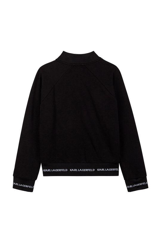 Karl Lagerfeld - Hanorac de bumbac pentru copii negru