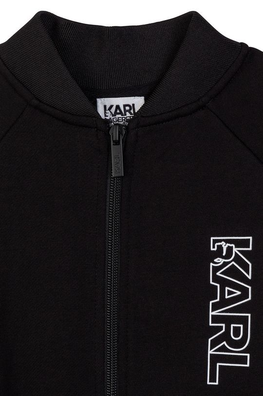 Karl Lagerfeld - Hanorac de bumbac pentru copii  Materialul de baza: 100% Bumbac Finisaj: 3% Elastan, 97% Poliester