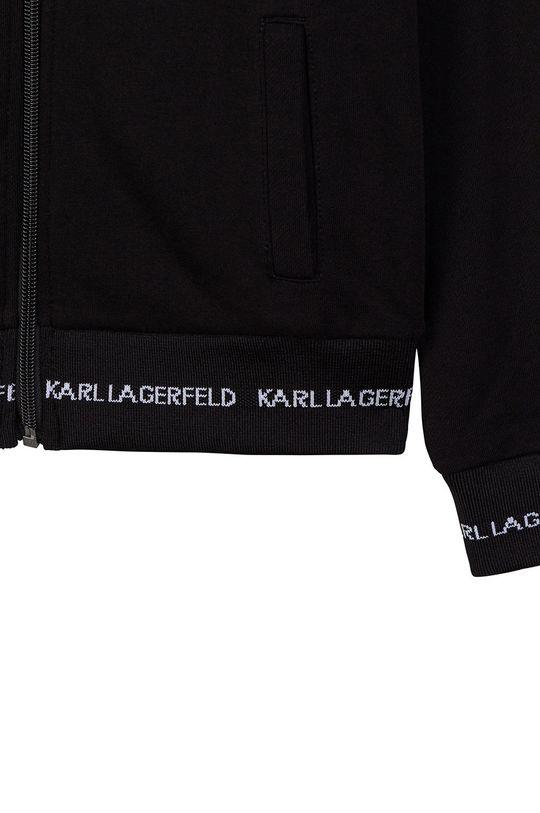 negru Karl Lagerfeld - Hanorac de bumbac pentru copii