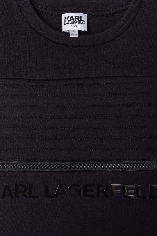 czarny Karl Lagerfeld - Bluza dziecięca