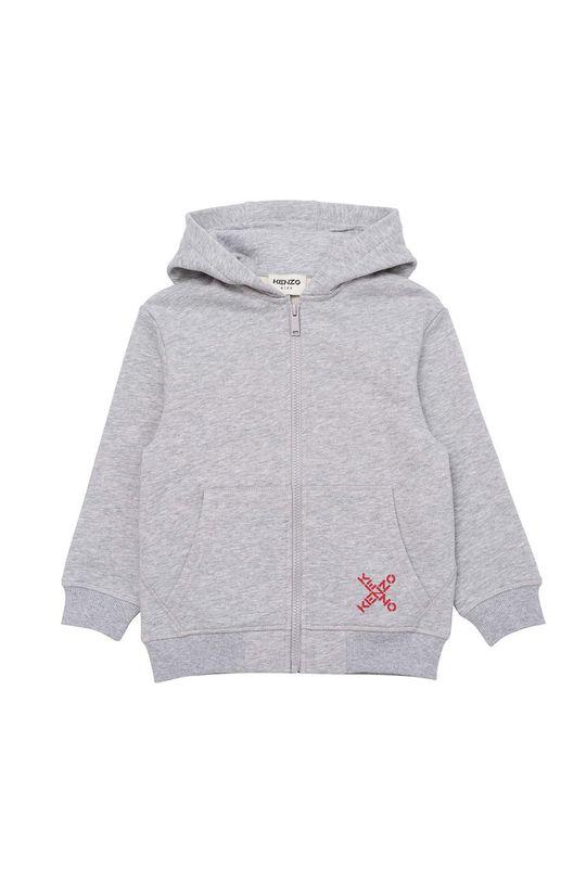 jasny szary KENZO KIDS - Bluza bawełniana dziecięca Chłopięcy