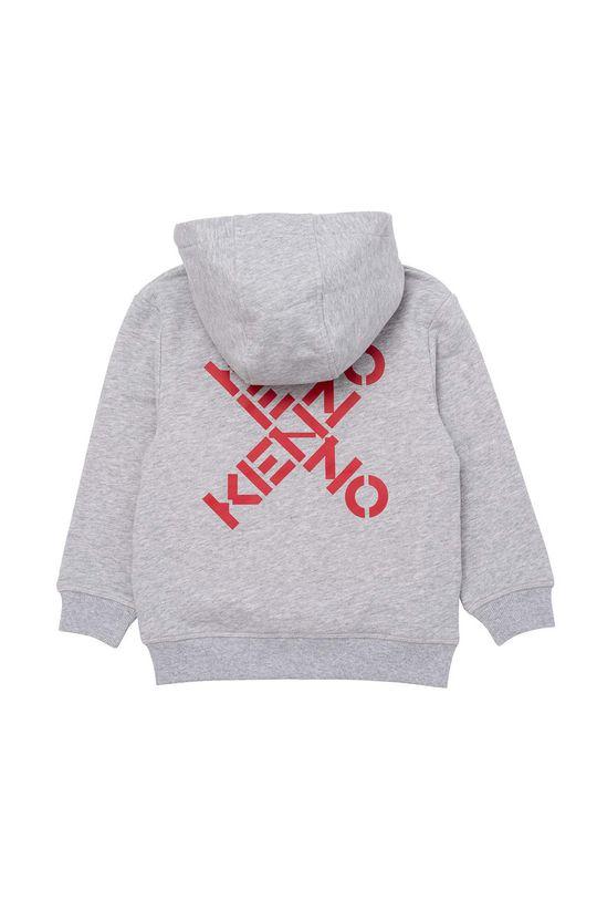 KENZO KIDS - Bluza bawełniana dziecięca jasny szary