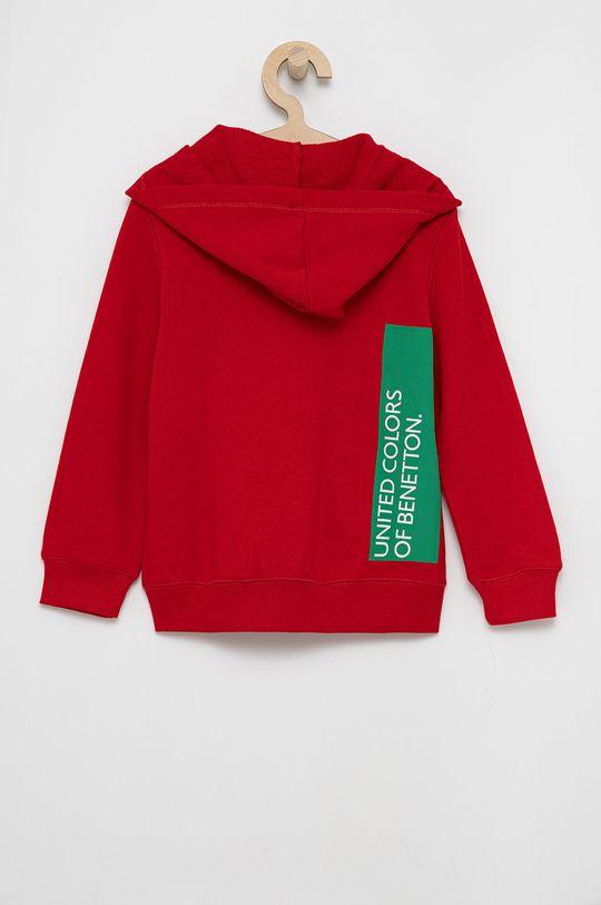 United Colors of Benetton - Bluza bawełniana dziecięca czerwony