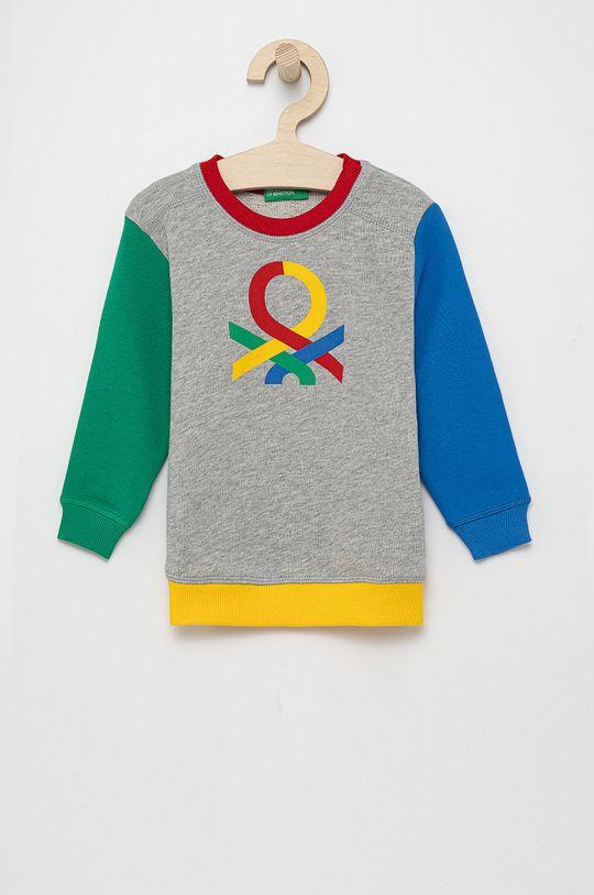 multicolor United Colors of Benetton - Bluza bawełniana dziecięca Chłopięcy
