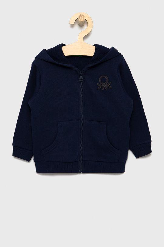 granatowy United Colors of Benetton - Bluza bawełniana dziecięca Chłopięcy