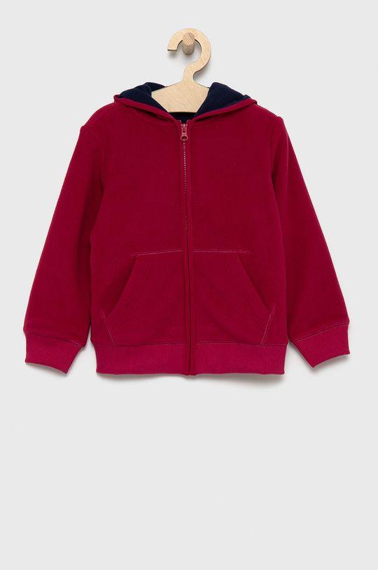 purpurowy United Colors of Benetton - Bluza dziecięca Chłopięcy