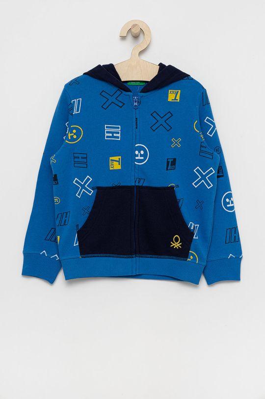 modrá United Colors of Benetton - Detská bavlnená mikina Chlapčenský
