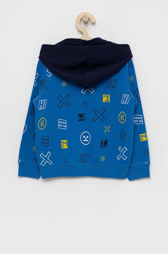United Colors of Benetton - Detská bavlnená mikina modrá