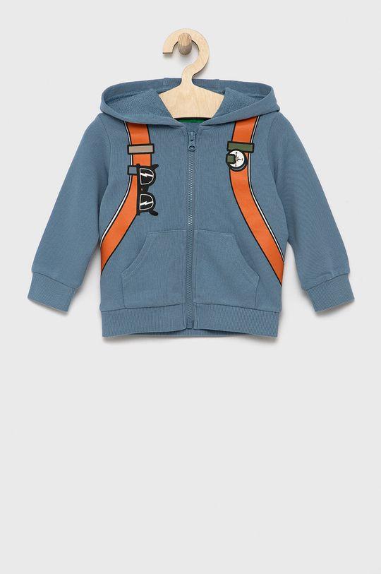 jasny niebieski United Colors of Benetton - Bluza bawełniana dziecięca Chłopięcy