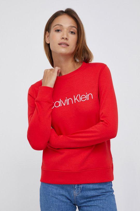 czerwony Calvin Klein - Bluza bawełniana Damski