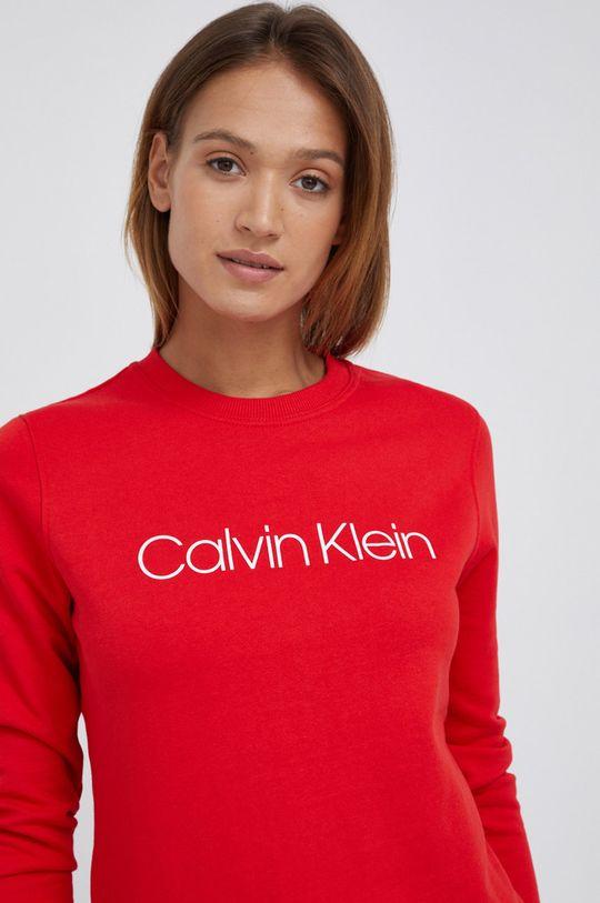 czerwony Calvin Klein - Bluza bawełniana