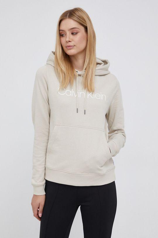 kremowy Calvin Klein - Bluza bawełniana Damski