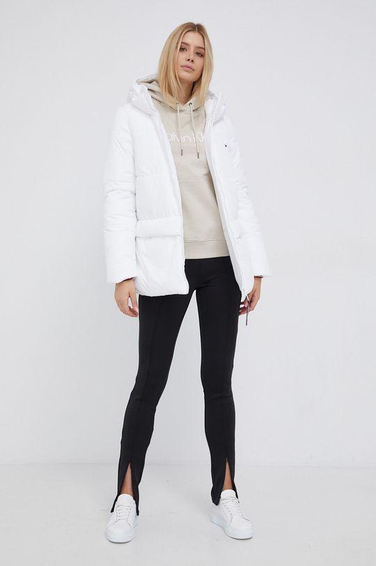 Calvin Klein - Bluza bawełniana kremowy