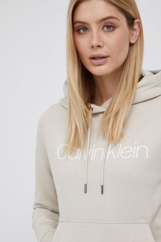 kremowy Calvin Klein - Bluza bawełniana