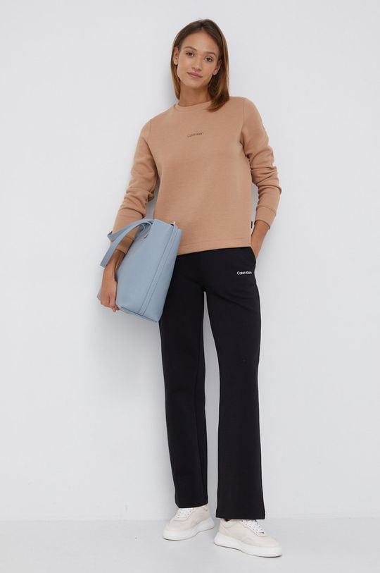 Calvin Klein - Bluza złoty brąz