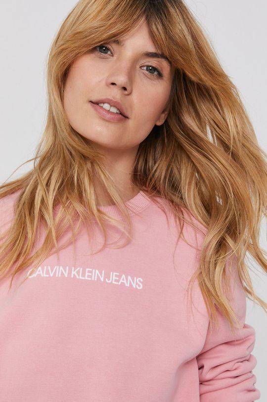 różowy Calvin Klein Jeans - Bluza Damski