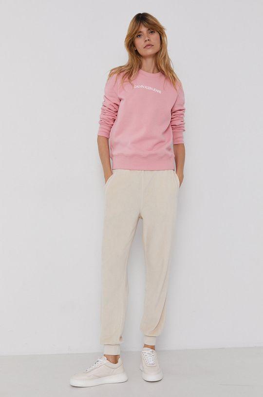 Calvin Klein Jeans - Bluza różowy