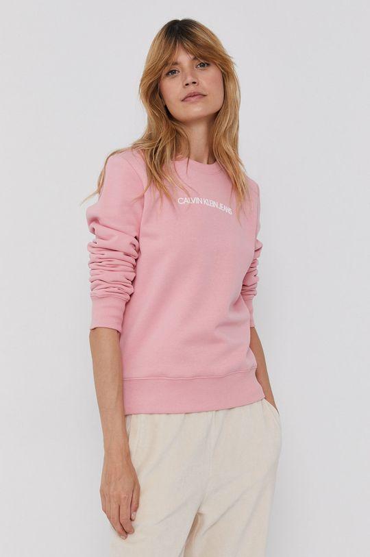 różowy Calvin Klein Jeans - Bluza
